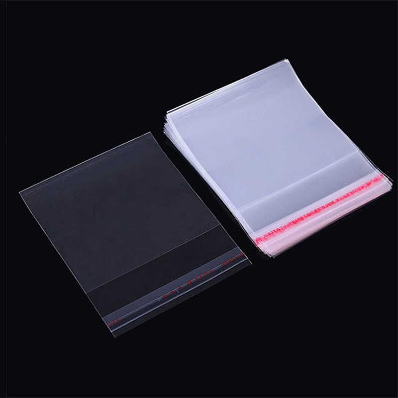 شفافة سميكة ذاتية اللصق حقيبة واضحة حزمة أكياس التخزين البلاستيكية الصغيرة الذاتي ختم السلوفان التعبئة أكياس بولي