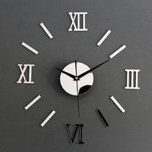 3d Простые большие декоративные настенные часы «сделай сам»