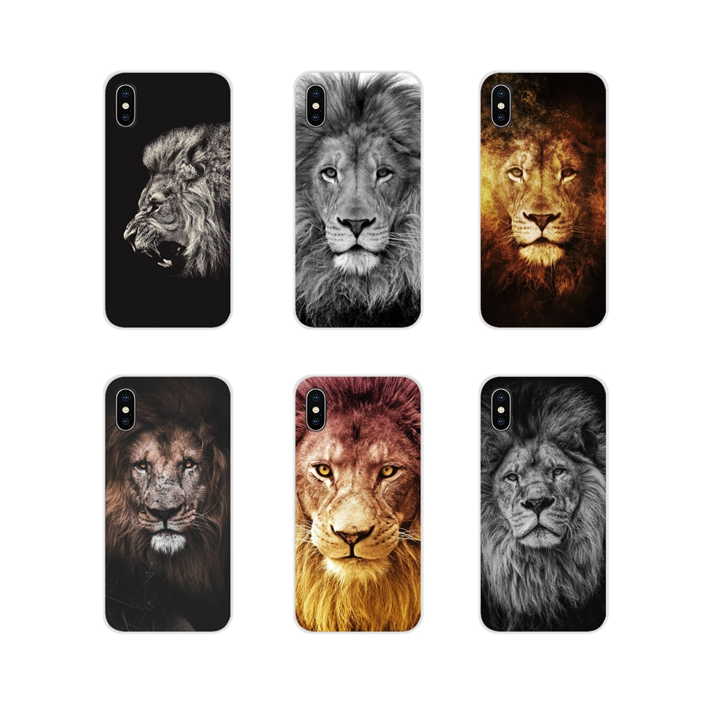 For <font><b>Xiaomi</b></font> Mi4 Mi5 Mi5S Mi6 <font><b>Mi</b></font> <font><b>A1</b></font> A2 A3 5X 6X 8 CC 9 T Lite SE Pro Animals The <font><b>lion</b></font> Accessories Phone Shell Covers image