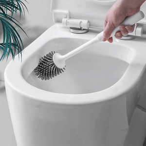Rubber head frame cleaning brush for bathroom wall-mounted household floor cleaning bathroom accessories toilet brush