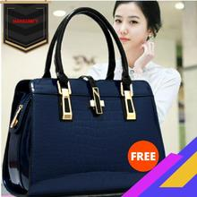 Hot Sales Luxury WOMEN'S Bag 2020 New Style Enameled Leather Crocodile Pattern T