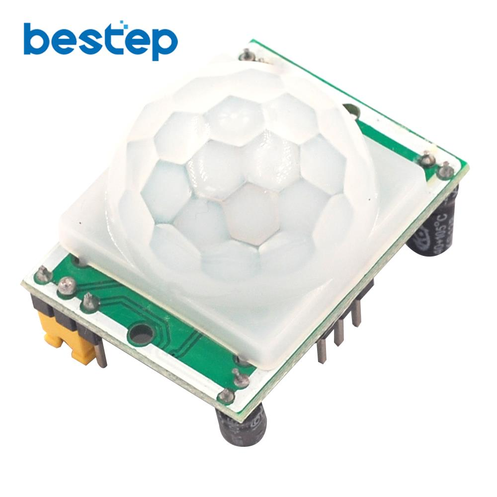 2PCS HC-SR501 Adjust IR Pyroelectric Infrared PIR Motion Sensor Detector Module for arduino for raspberry pi kits