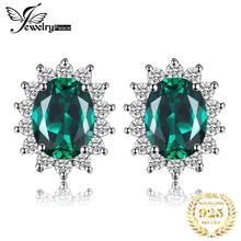 JewelryPalace Diana Simulated Emerald Stud Earrings 925 Sterling Silver Earrings For Women Korean Earings Fashion Jewelry 2020