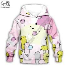 Толстовки цыплята/панды/медведя/утки с 3d принтом детский пуловер
