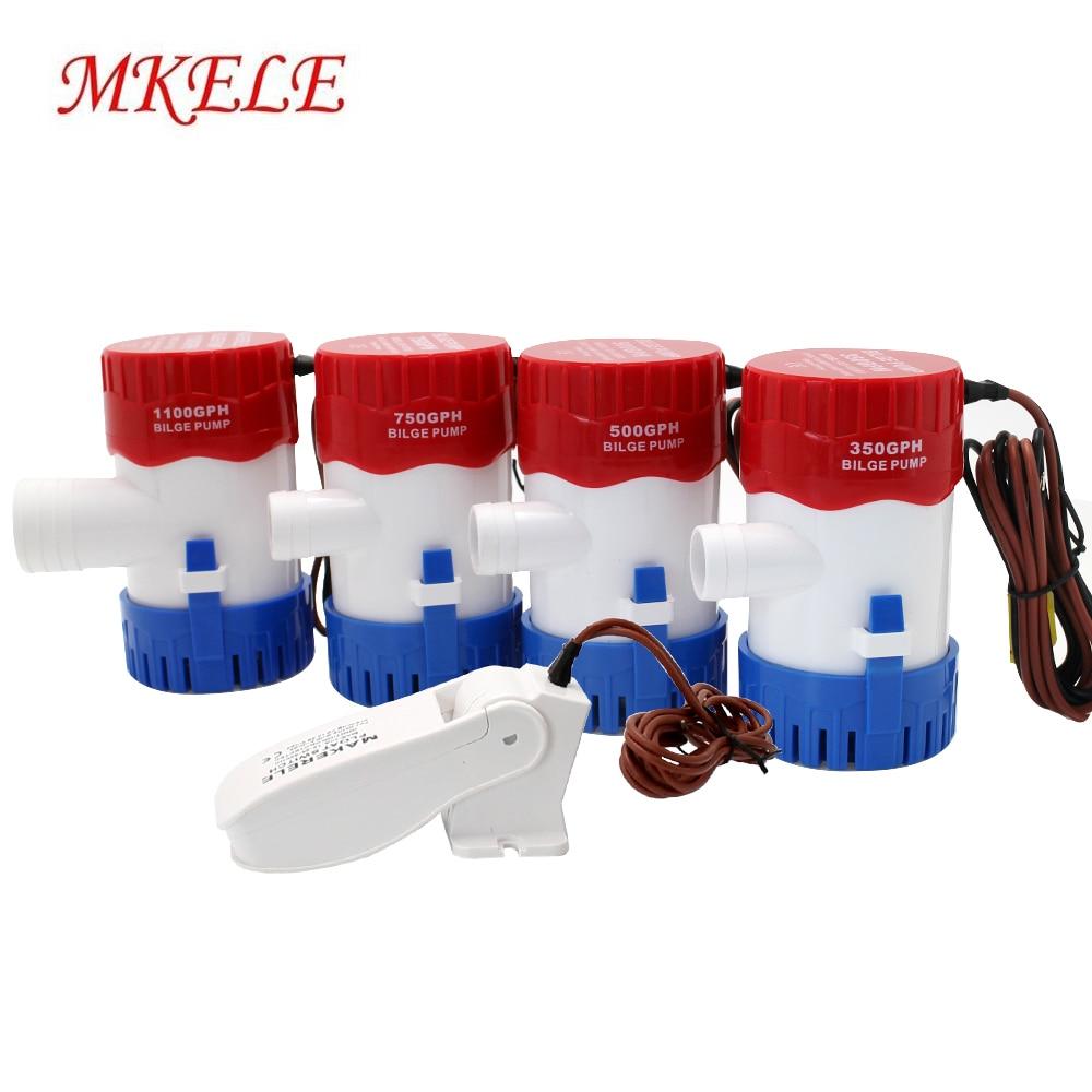 Bilge Pump Water 1100gph 750gph 500gph 350gph 12v 24v  Float Switch Marine Bilge Water Pump Newest Design For Yacht Drainage