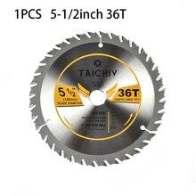 1pc 140mm lâmina de serra circular 5-1/2 Polegada 36t dente para ângulo moedor de madeira carving disco ferramentas para trabalhar madeira acessórios peças