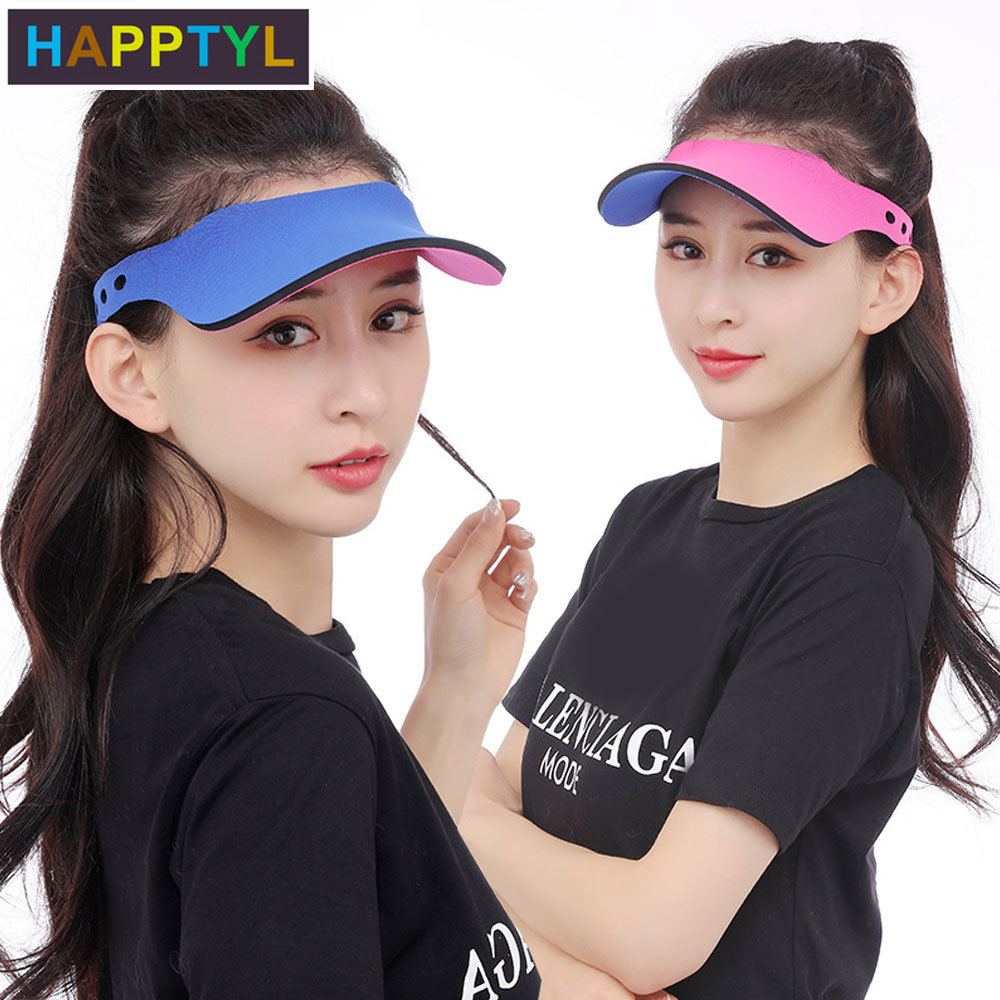 HAPPTYL 1Pcs Sun Visor Hats Women Men Kids Summer UV Protection Beach Cap