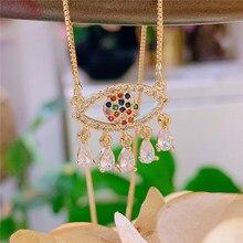 10pcs,Women Pendant Necklace, Fashion Jewelry, Pop Charms, Eyes Shape,Gold colors,Can Wholesale,