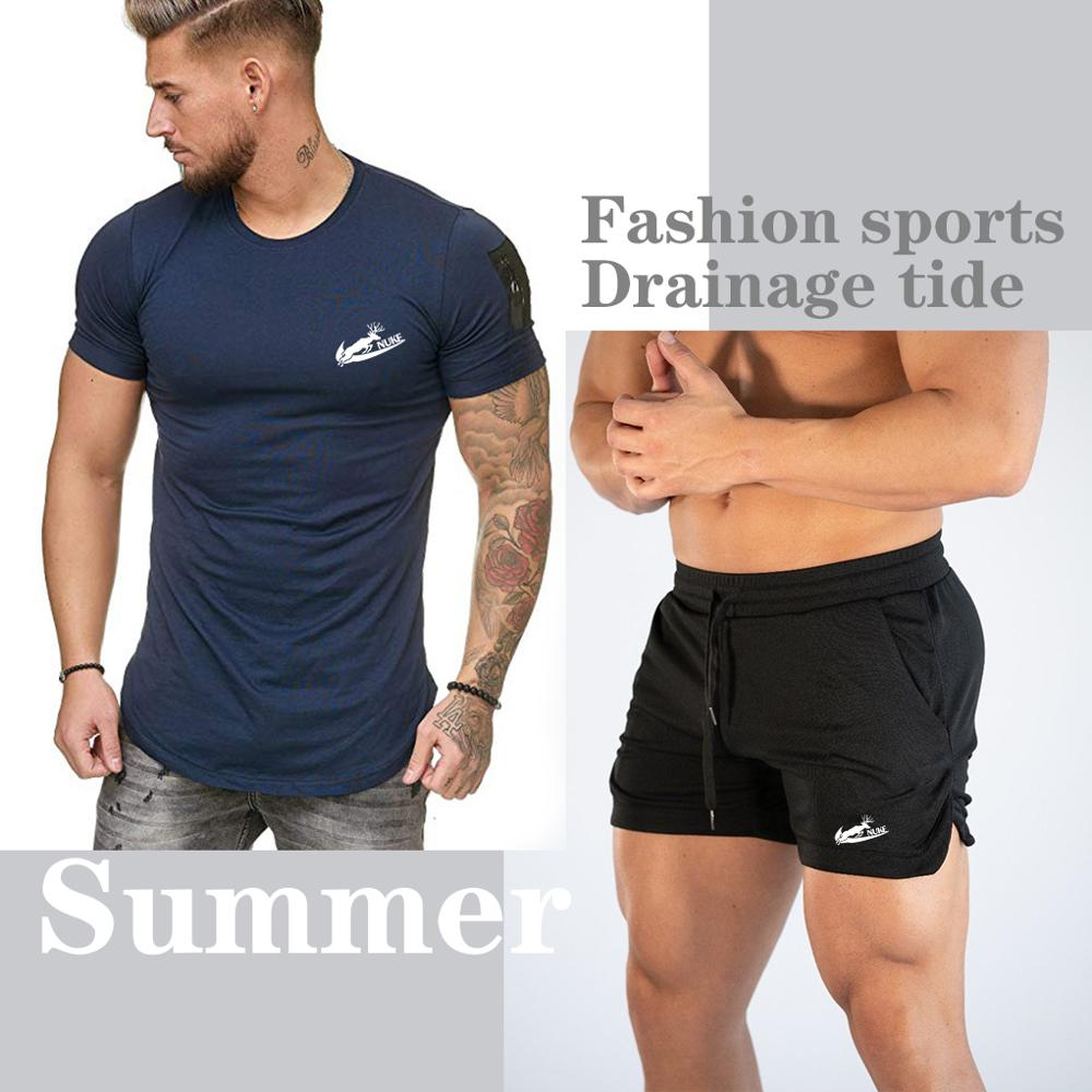 2020 Men's T-shirt Swimwear Swimming Shorts Suit Swimwear Beach Board Shorts Swimming Pants Men's Running Sports Surfing Shorts