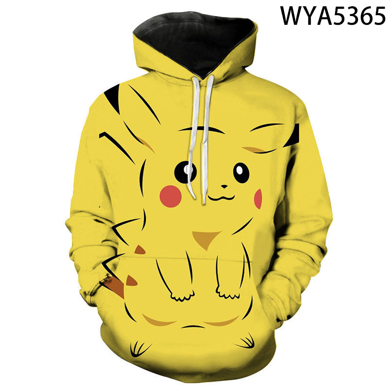 New Games Pokemon Fashion Casual Boy Girl Kids 3D Printed Hoodies Sweatshirts Men Women Children Long Sleeve Streetwear Jacket 2