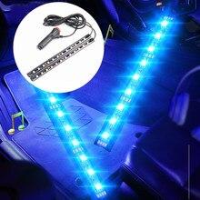 Интерьер автомобиля светодиодный длины подошвы украшения светильник полосы для Citroen C-Quatre C-Triomphe Picasso C1 C2 C3 C4 C4L C5 Elysee/DS-series