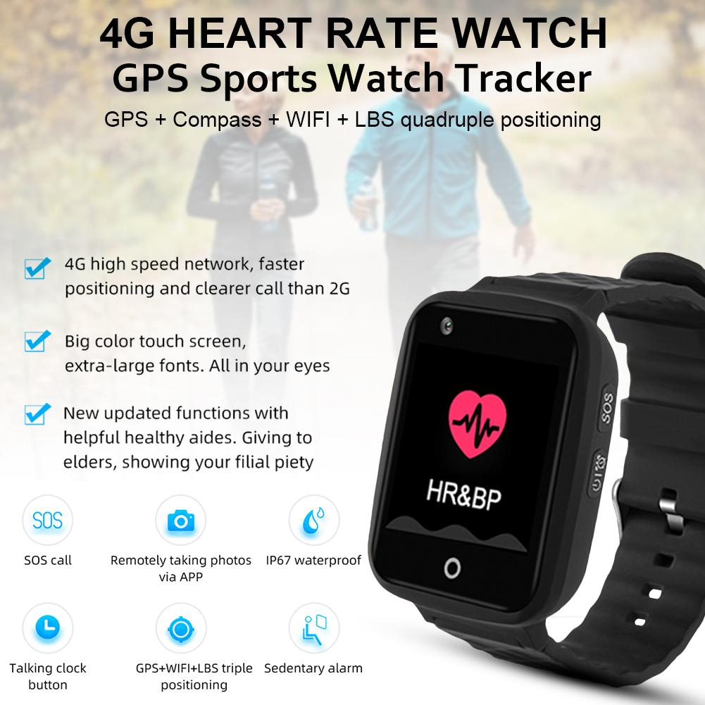 V46 Bluetooth GPS <font><b>4G</b></font> <font><b>Watch</b></font> Heart Rate <font><b>Blood</b></font> <font><b>Pressure</b></font> Monitor SOS Call Smart Bracelet For Children Elderly Safe Anti-Lost <font><b>Watch</b></font> image
