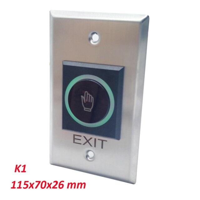 Pas de bouton de sortie de porte infrarouge sans contact en métal NC COM pour système de contrôle daccès