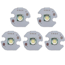 5PCS CREE XML XM-L T6 LED U2 10W WHITE High Power LED Emitter Diode with 12mm 14mm 16mm 20mm PCB for DIY(China)