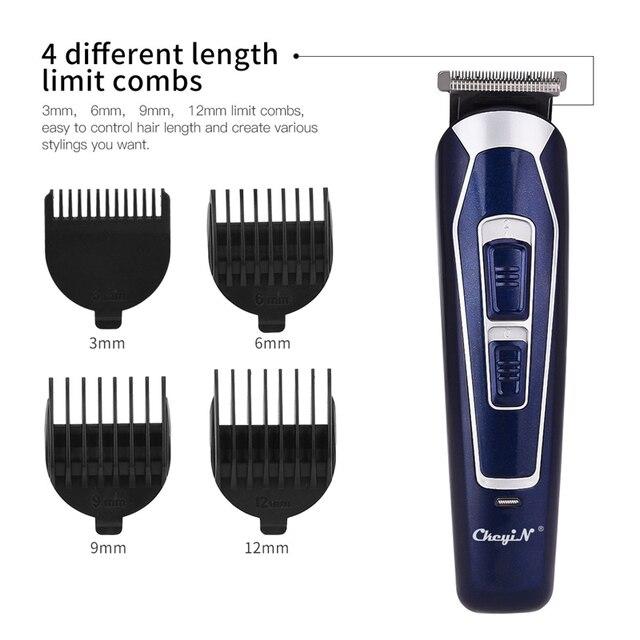 CkeyiN Rechargeable Barber Hair Trimmer for Men Low Noise Shaving Hair Razor Cordless Hair Clipper Hair Cutting Machine Cutter 2