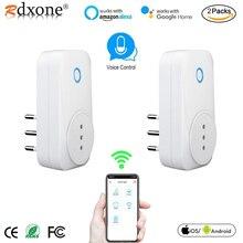 Enchufe inteligente italiano con Wifi, enchufe inteligente con Monitor de potencia de salida, compatible con Smart Life, Tuya, Alexa y Google Home
