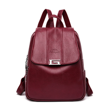 2019 Brand New Backpack Women Leather Luxury Travel Bags Designer Fashion Backpack Satchel School Bag For Teenage Girls Black