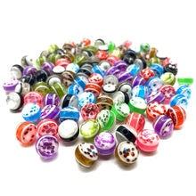 Perles à paillettes rondes de couleur 8mm, 50 pièces, pour la fabrication de bijoux, accessoires pour colliers et bracelets, DIY, vente en gros