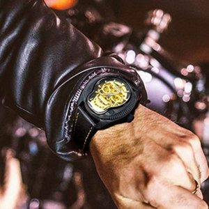 Image 5 - Luxe Merk Parnis Commander Serie Lichtgevende Heren Steel Case Lederen Horlogeband Automatische Self Wind Mechanische Horloge