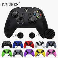 IVYUEEN 14 couleurs couverture en Silicone pour Microsoft Xbox One X S contrôleur mince clouté étui de protection peau avec poignée de pouce