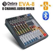 Debra Audio Clean sound!Pro EVA-8 8Channels Audio Mixer dj consoler with 48V Phantom Power USB  Bluetooth for Recording Stage стоимость