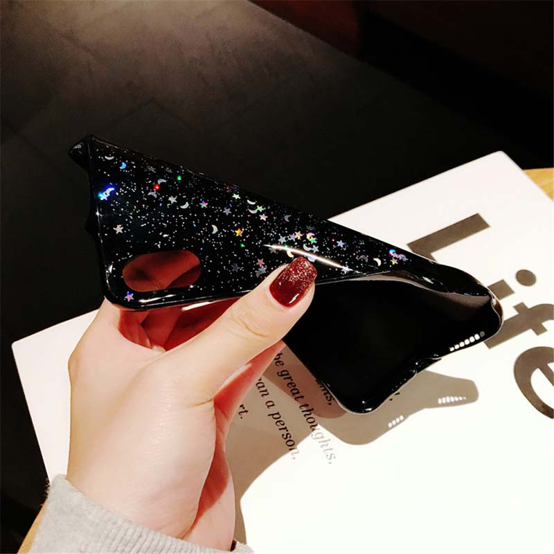 H6ea0b90f25a24b0397b4b172048601a6A - Ottwn Glitter Phone Case For iPhone 11 Case 11 Pro XS Max XR X 6 6s 7 8 Plus Love Heart Star Sequins Soft Bling Clear Cover Capa