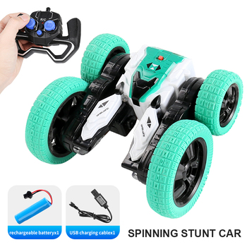 4WD RC Stunt Car Off-Road High Speed RC Crawler Stunt Car Toys For Kids Drift Buggy 360° Rotating Flips Vehicles 25 Mins Playing image
