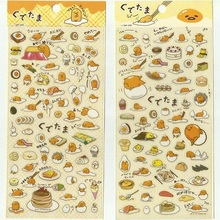 20packs/lot Japan Lazy Egg With Food Sticker Decoration Label Scrapbook Gifts Animals Cartoon Stickers