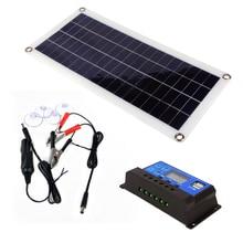30W פנל סולארי PWM USB פלט תאים סולריים פולי 10A/20A/30A שמש בקר רכב יאכטה 12V סוללה אנרגיה סולארית מערכת diy קיט