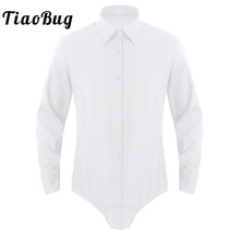 Shirts Bodysuit Button-Down Long-Sleeves Business Solid-Color Casual Men's Tiaobug Tops