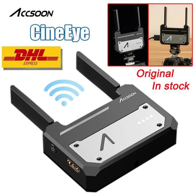 In Magazzino Accsoon CineEye Dispositivo di Trasmissione Wireless 5G 1080P Mini HDMI Video Trasmettitore Per IOS iPhone per iPad andriod Telefono