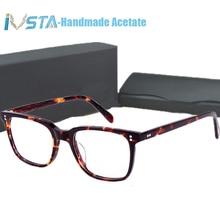 IVSTA OV 5031 con il marchio NDG 1 Occhiali In Acetato Uomini Ottici occhiali Montatura Da Vista Occhiali Da Sole Polarizzati Occhiali Da Sole Quadrati di Marca di Lusso Scatola di Miopia