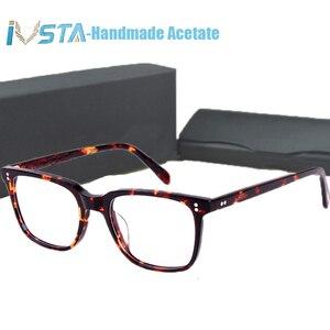 Image 1 - IVSTA OV 5031 with logo NDG 1 Acetate Glasses Men Optical Frame Prescription Polarized Sunglasses Square Luxury Brand Box Myopia
