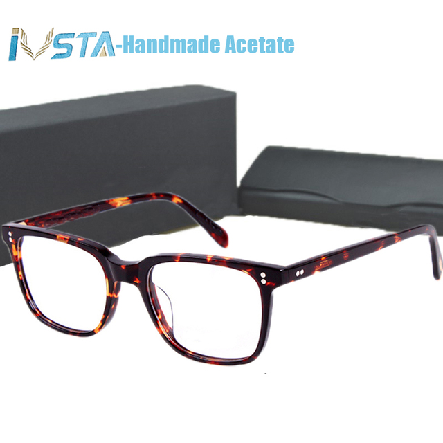 IVSTA OV 5031 with logo NDG 1 Acetate Glasses Men Optical Frame Prescription Polarized Sunglasses Square Luxury Brand Box Myopia