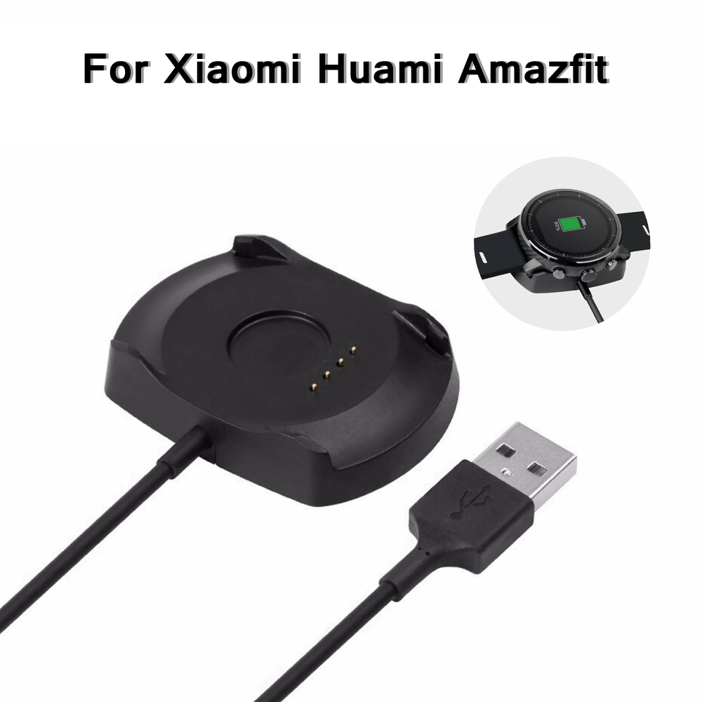Amazfit2/2S Charging Cable Charger Cradle for Xiaomi Huami Amazfit Stratos Smartwatch 2/2S Wireless Charger Dock Charging Cradle-in Smart Accessories from Consumer Electronics