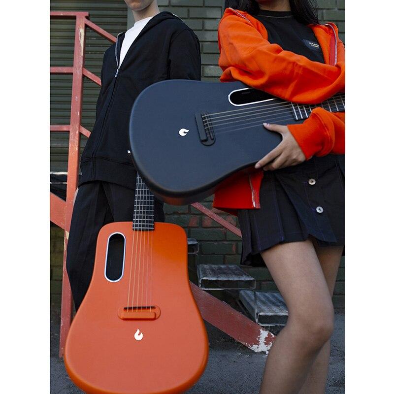 Envío gratis ¡entrega urgente! LAVA ME 2 fibra de carbono 36 pulgadas guitarra Folk caja eléctrica/FreeBoost con caja de regalo