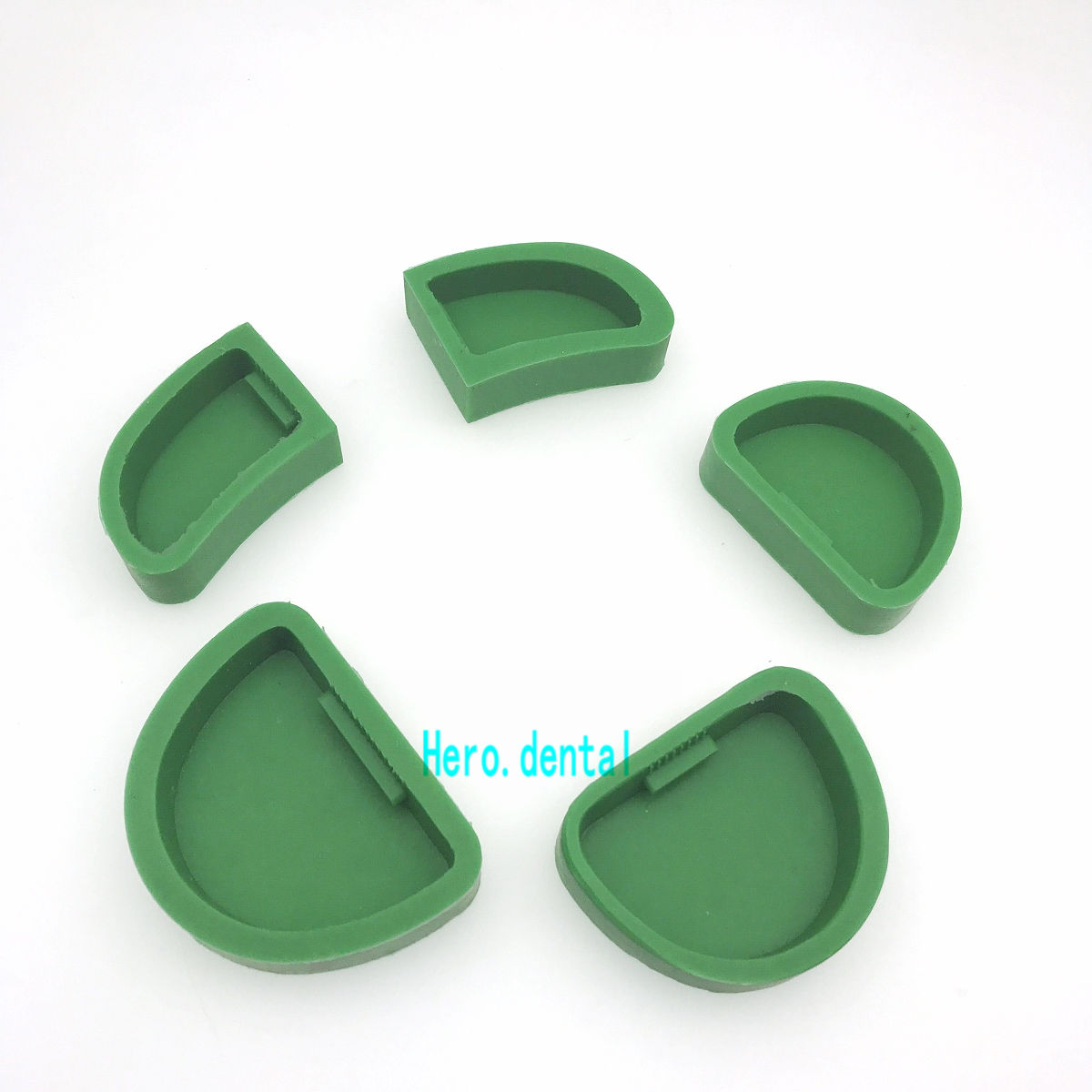 5Pcs Dental Lab Silicone Plaster Model Former Base Molds Mould On Stone Model Work