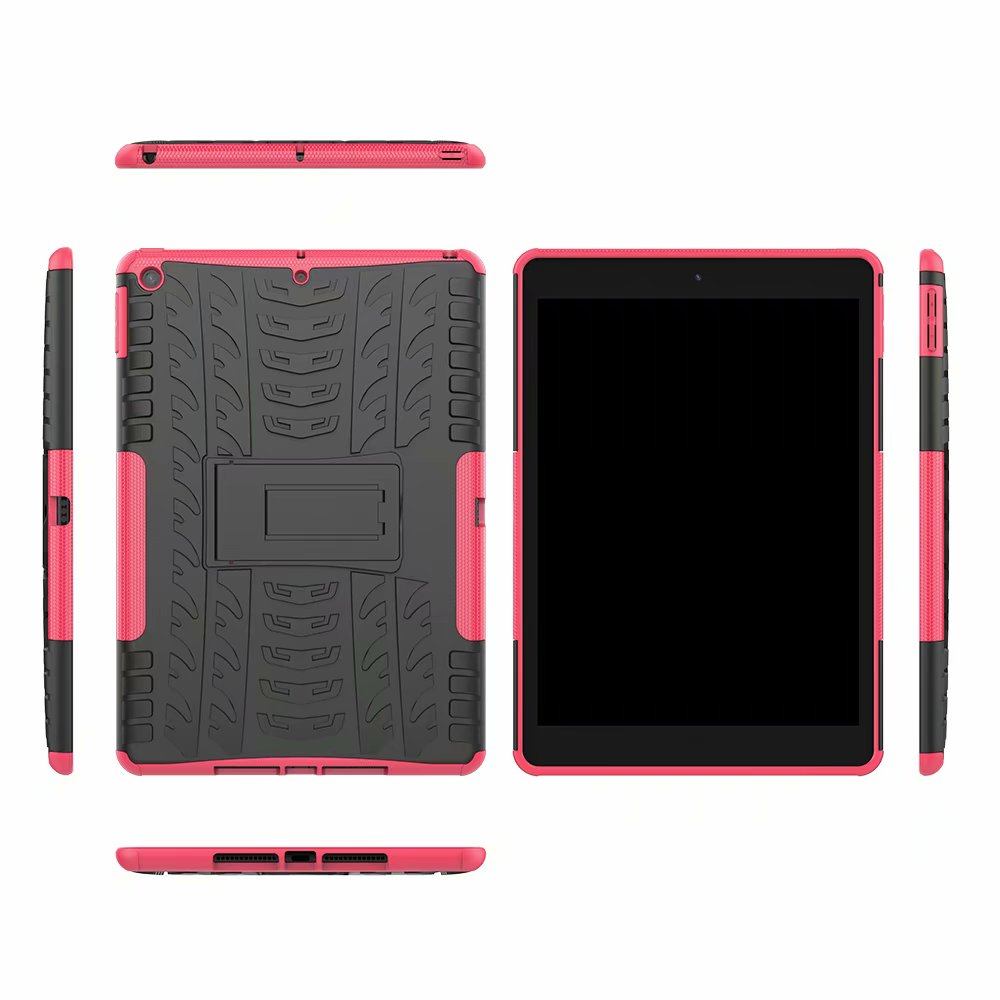 Rugged Shockproof Heavy-Duty Child Kids for Case-Cover iPad Hybrid-Armor Apple Defender