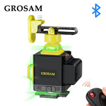 GROSAM 16 Lines 4D Green Laser Levels 360 Horizontal And Vertical Cross Lines With Auto Self-Leveling Indoors And Outdoors
