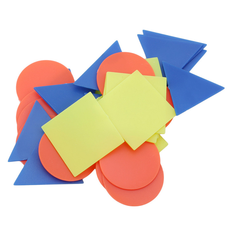 30 Pcs Colorful Plastic Shape Counting Chips For Kids Baby Mathematics Number Numeracy Games Toys