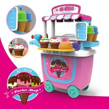 Ice Cream Sweet Shop Cart Shop Toy Pretend Play Set Children Kids Set Role Play Set Children's Educational Toy(China)