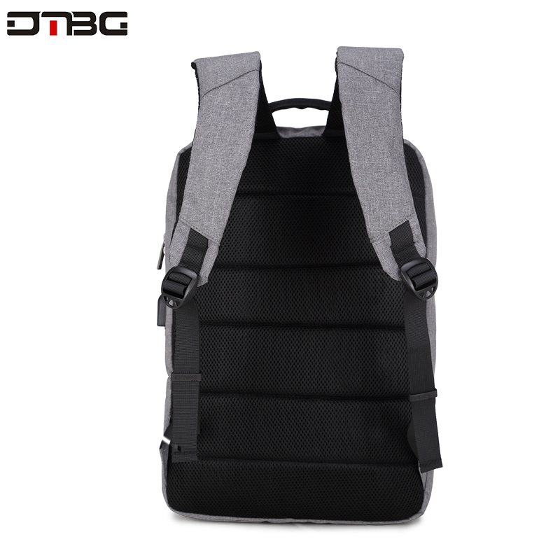 "Image 5 - DTBG Gray Backpack 15.6"" Laptop Back Pack Men Women Fashion Slim Travel Bags Large Capacity Waterproof College School Mochilar-in Backpacks from Luggage & Bags"