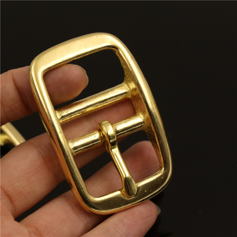 1pcs Solid Brass Belt <font><b>Buckle</b></font> Middle Center Bar Single Pin Belt <font><b>Buckle</b></font> Leather Craft Strap Belt <font><b>15mm</b></font>/ 20mm/ 25mm image
