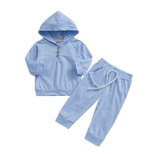 Spring Autumn Baby Girls Clothes Casual Fashion Baby Girl Solid Color Long Sleeve Hoodies Trousers Pants 2PCS Kids Outfit Set #p стоимость