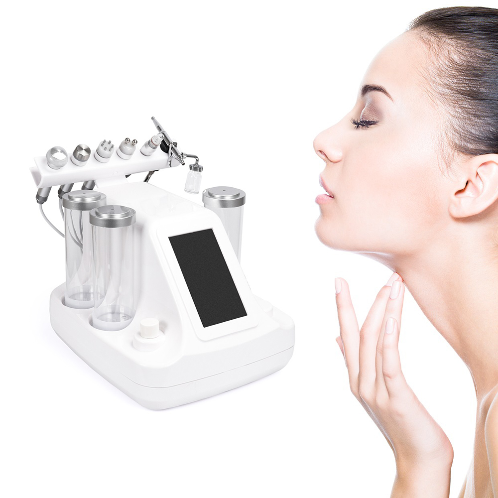 6 In 1 Hydra Dermabrasion Peel Clean Skin Care BIO Light RF Vacuum Face Cleaning Hydro Water Oxygen Jet Peel Machine