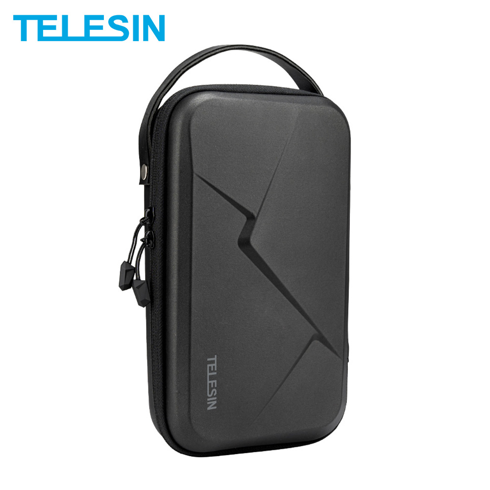 TELESIN Portable Storage Bag Waterproof Carrying Case Adjustable Space For GoPro 8 7 6 5 Xiaomi Yi Osmo Action Accessories