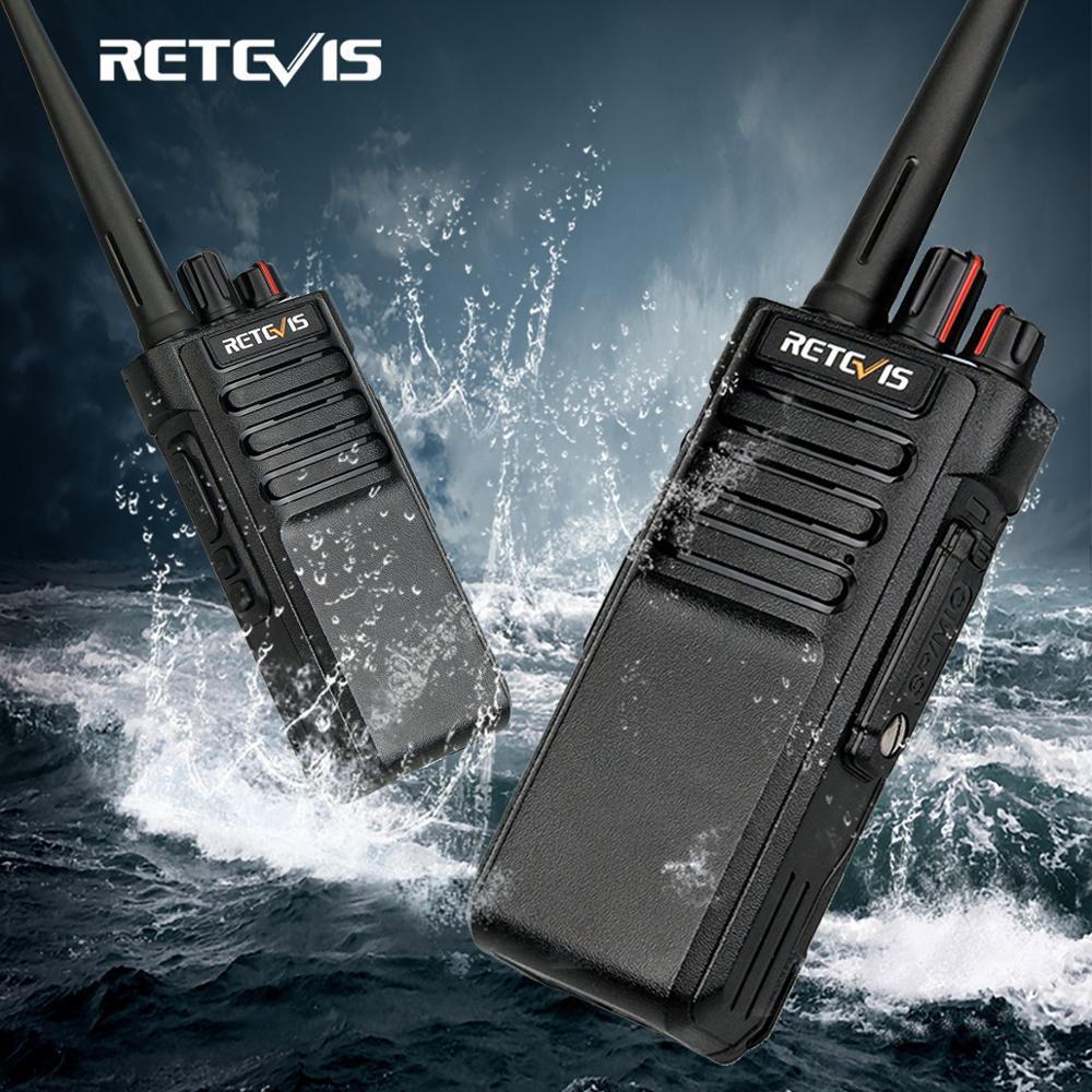 Transceptor de rádio em dois sentidos da frequência ultraelevada/vhf 10w para o armazém da fábrica da exploração agrícola 3km walkie talkie ip67 impermeável retevis rt29 2 pces