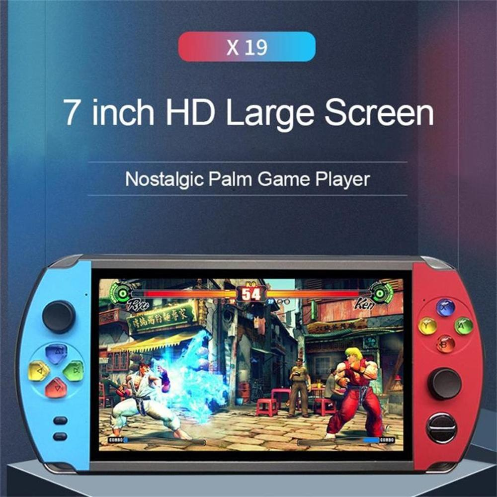 HD 7.0 Inch in 2000 Games Retro Rear Pocket Handheld Display 16g + 32g TF Game Console Player Video Console Birthday Gift #1107(China)
