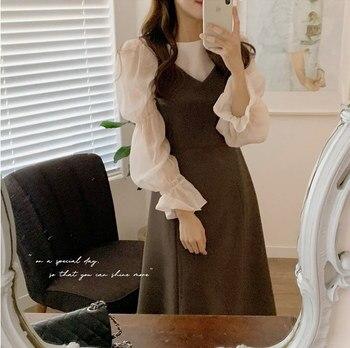 New S Xl Spring Autumn 2 Piece Suit Sleeveless Vintage Women Dresses Female Girls Dress Suits Robe Femme Vestido Sell Separately 1