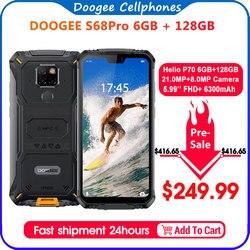 IP68 防水 doogee S68 プロ頑丈な電話ワイヤレス充電 nfc 6300 12V2A 充電 5.9 インチ fhd + エリオ P70 オクタコア 6 ギガバイト 128 ギガバイト